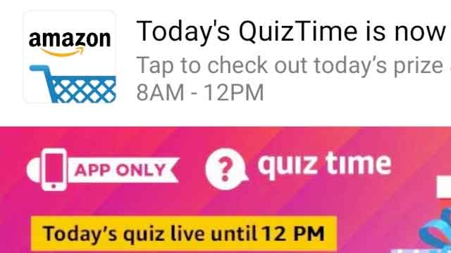 Amazon Quiz आज का उत्तर