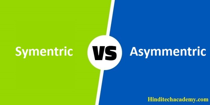 Difference Between Symmetric and Asymmetric Encryption in Hindi