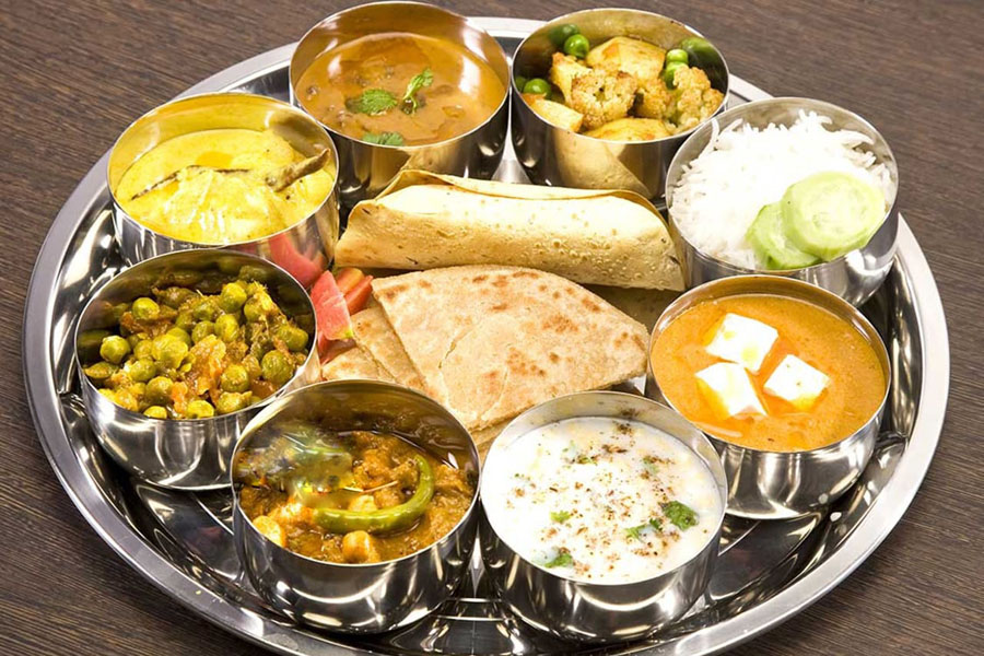 north indian food thali
