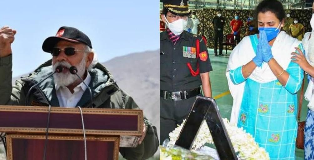कर्नल संतोष बाबू की पत्नी ने कहा- &Quot;मोदी जी हर हाल में चीन से जीतकर ही आना&Quot;