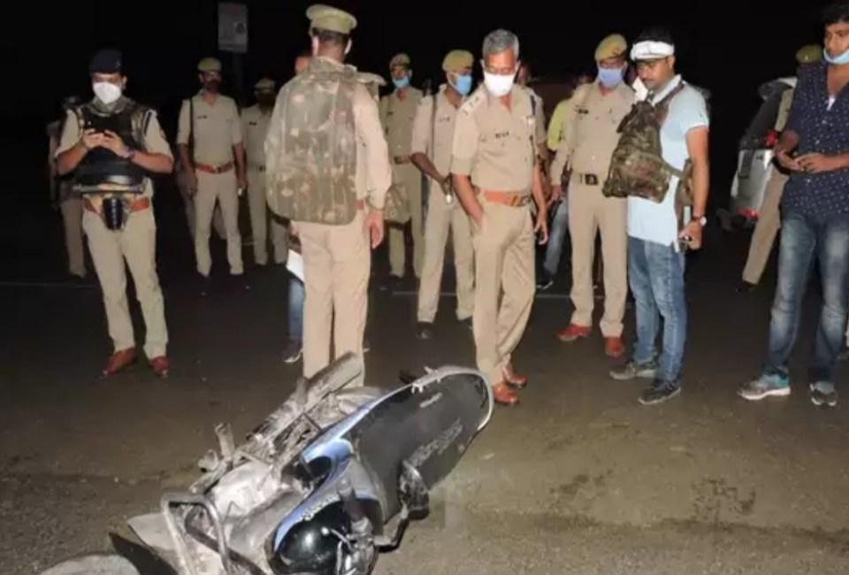 उत्तर प्रदेश पुलिस ने भदोही में एनकाउंटर कर मार गिराया 50 हजार का इनामी बदमाश