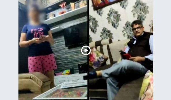 महिला मित्र के साथ कमरे में थे आईपीएस अधिकारी, पत्नी ने रंगे हाथों पकड़ा, वीडियो वायरल