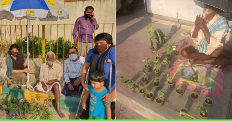 फुटपाथ पर पौधे बेचने वाले अंकल की बदली ज़िंदगी, मदद को आगे आए लोग
