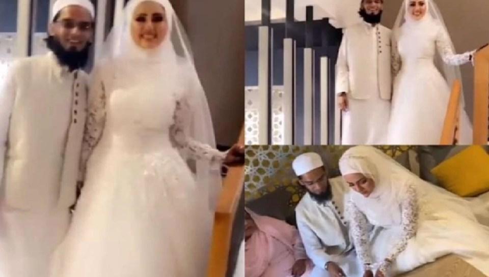 सना खान ने एक्टिंग छोड़ने के बाद अब मौलाना मुफ्ती अनस से किया निकाह, देखें वीडियो