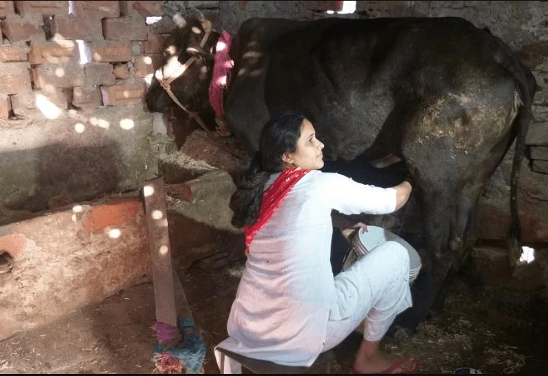 गायों के तबेले में गोबर उठाने वाली युवती चुनौतियों के बीच बनी जज़,  पीपो को टेबल बना करती थी पढ़ाई
