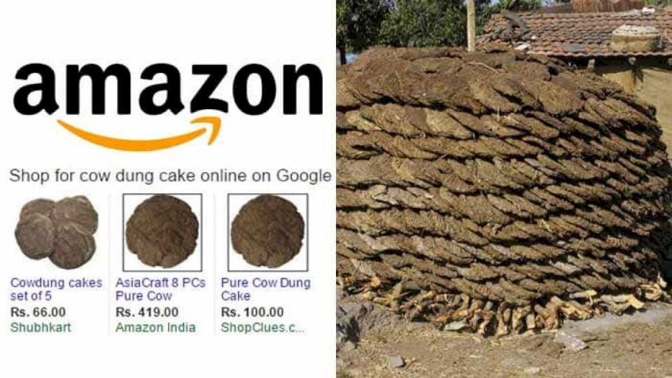 अमेज़ॉन कस्टमर ने केक की जगह मंगाया गोबर का उपला, खाने के बाद दिया ये रिव्यु जो हो रहा वायरल