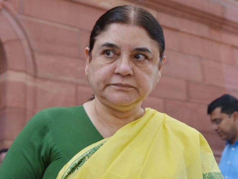 मेनका गांधी पर लगा गाली देने का आरोप, भाजपा नेता ने कहा वो घटिया महिला है