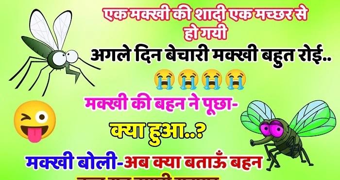 Hindi Funny Jokes : एक मक्खी ने मच्छर से शादी कर ली और शादी के अगले ही दिन मक्खी खूब रोई. मक्खी की बहन ने पूछा -क्या हुआ ?