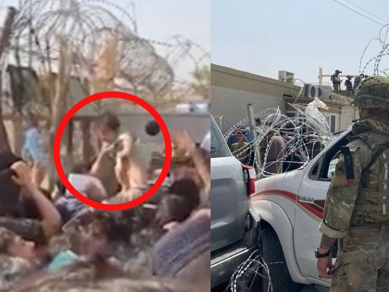 सैनिकों से मदद मांग रही अफगान की महिलाएं, बच्चो को फेंक रही नुकीली तारो के पार, देख भर आएँगी आंखे