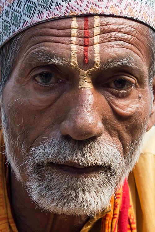 Hindu Priest with Tilak