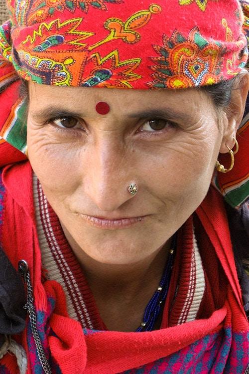 Woman with Bindi