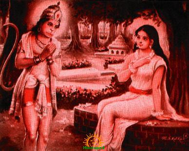 Goddess Sri Sita Mata with Hanuman
