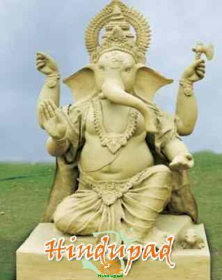 big clay ganesha idol
