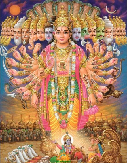 Lord Vishnu in Viratroopa, Vishwaroopam