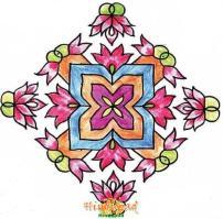 rangoli muggu design 195