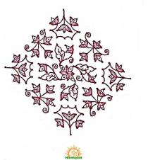 sankranthi rangoli with dots 9