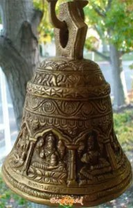 Ringing bell during Puja