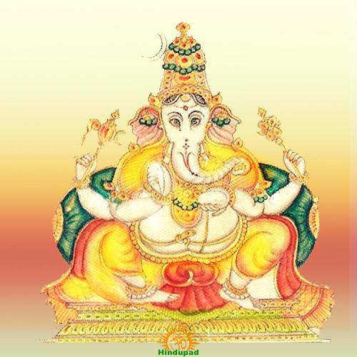 Ekakshara Ganapati, Ganesh's form of Meditation