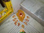 diwali rangoli door single corner