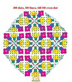 rangoli design with dots lines