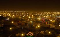 Night view of Kumbh Mela 2013