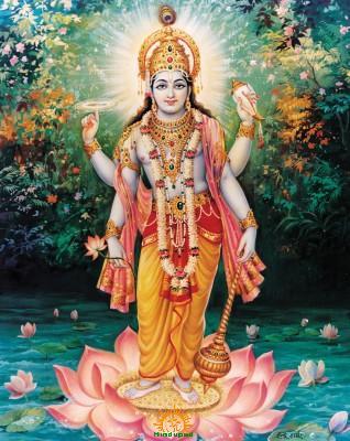 Lord Vishnu with Sudarshana Chakra