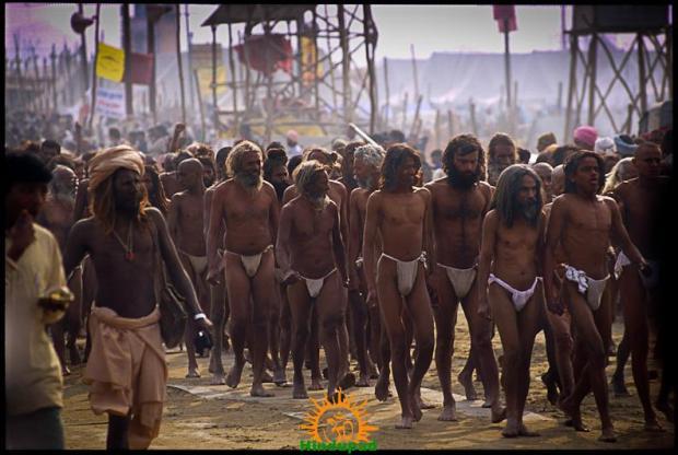 Sadhus of Akhara at Kumbh Mela 2013