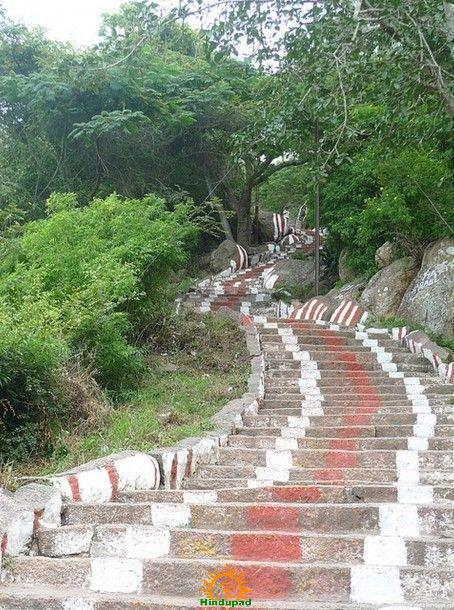 Steps to Chamundeshwari Temple in Mysore