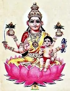 Santhana Lakshmi: Goddess of fertility