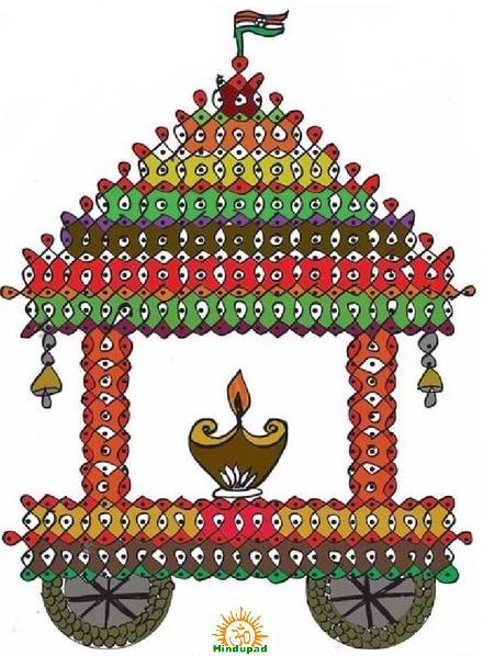 Ratham Muggu for Ratha Saptami