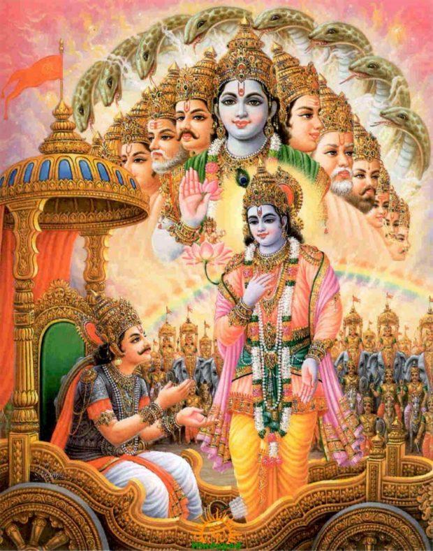 Lord Krishna preaching Bhagavad Gita