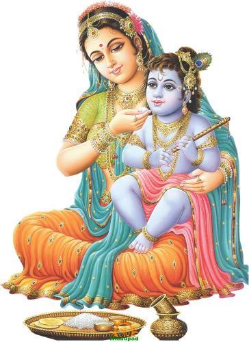 Mata Yashoda with Lord Krishna