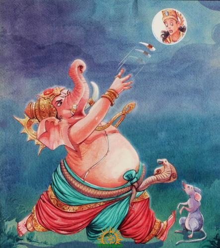 Ganesha moon curse