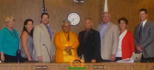 Hindu invocation of Chico City Council, California.