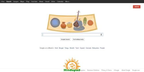 MS Subbulakshmi Google Doodle 16 September 2013