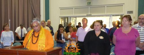 Rajan Zed reading first Hindu invocation of Suisun City Council, California.
