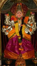 Balatripura Sundari Alankaram in Annojiguda Gayatri Peetham Hyderabad