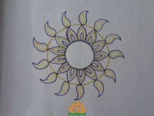 Chukkala Muggulu for Sankranti 2