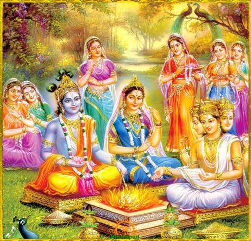 Krishna Rukmini wedding