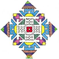 Rangoli design with dots 1