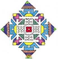 Rangoli design with dots 1