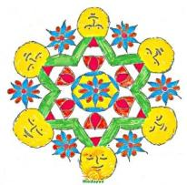 Rangoli design with dots 2