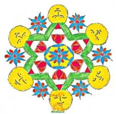 Rangoli design with dots 2