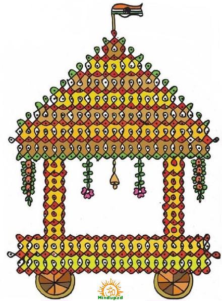 Ratha Saptami Ratham Muggu Rangoli design