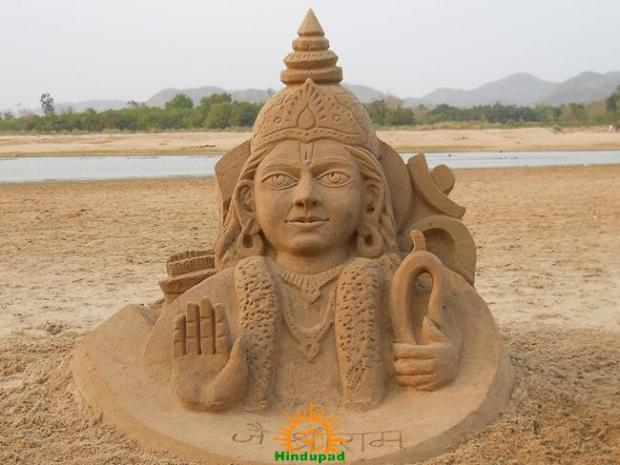 Rama Navami Sand Sculpture