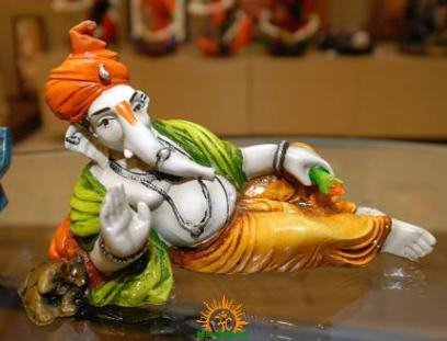 Lord Ganesha in Sleeping Posture