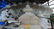 Making Khairatabad Ganapati 2014 4