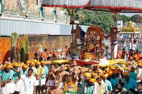 2 Chinna Sesha Vahana Seva in Tirupati Brahmotsavam