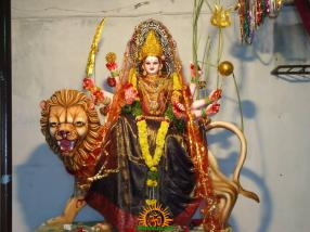 2 Lalitha Devi Alankaram in Navaratri of Sri Indraprastha Colony Temple