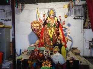 1 Mahishasura mardini Alankaram at Indraprastha Colony Temple